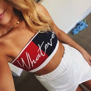 Tommy Hilfiger Inspired Bandeau Top 💌